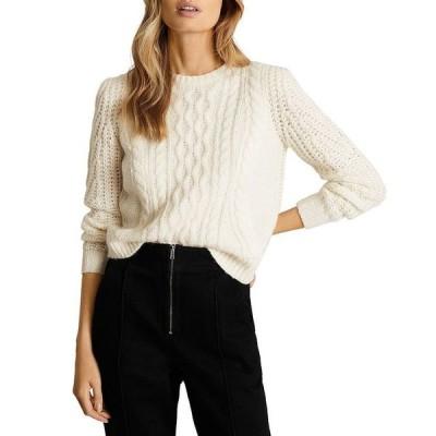 レイス レディース ニット・セーター アウター Amelie Cropped Cable Knit Sweater