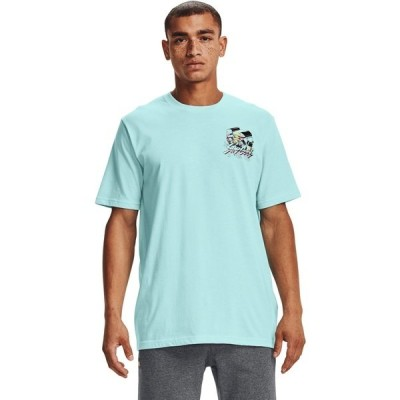 アンダーアーマー Tシャツ トップス メンズ Under Armour Men's Stay Cool T-shirt Aqua Or Turquoise 01