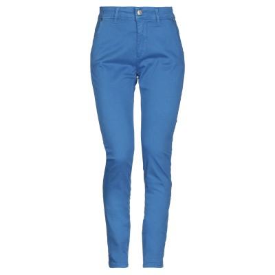 NUALY パンツ ブルー 38 コットン 97% / ポリウレタン 3% パンツ