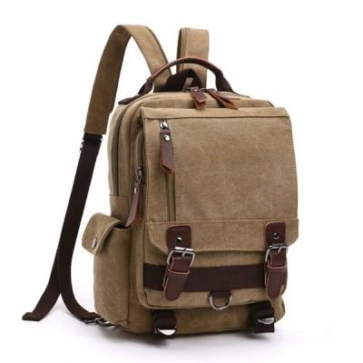 【ポイント20倍】【キャンバス×レザー 3wayバッグ】リュックサック ボディバッグ ショルダーバッグ ハンドバッグ A4サイズ包装無料
