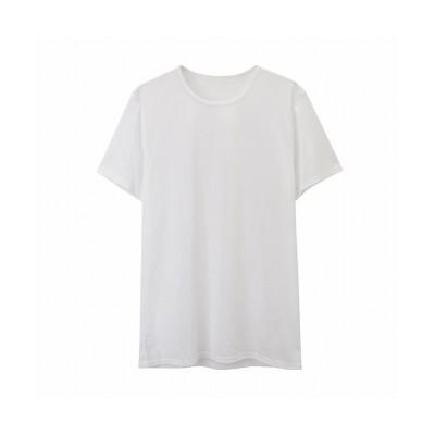 (MAC HOUSE(men)/マックハウス メンズ)SARARI サラリ QUICKEY(TM) クルーネックTシャツ 311101MH/メンズ ホワイト