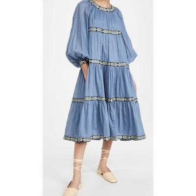 トリー バーチ Tory Burch レディース ワンピース ワンピース・ドレス Puffed Sleeve Dress Shadow Blue