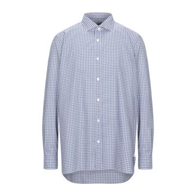 GIAMPAOLO シャツ ブルー 40 コットン 100% シャツ