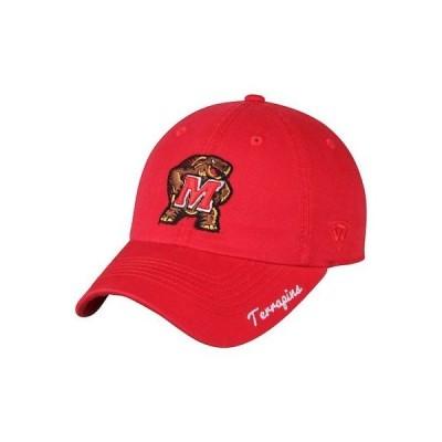大学 NCAA トップ オブ ザ ワールド Top of the World Maryland Terrapins Women's Red Crew Adjustable Hat