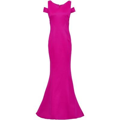 ZAC POSEN ロングワンピース&ドレス ガーネット 4 レーヨン 80% / ナイロン 14% / ポリウレタン 6% ロングワンピース&ドレス