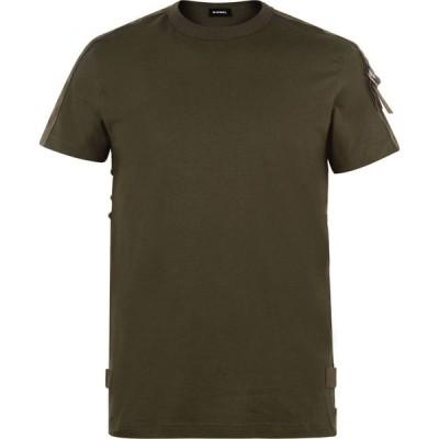 ディーゼル DIESEL メンズ Tシャツ トップス Tape T Shirt Khaki