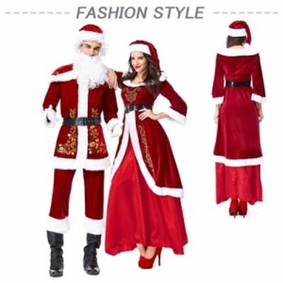 レディース ハロウィン クリスマスパーティー 妖精 精霊 天使  ワンピース 帽子 コスプレ服 サンタクロース