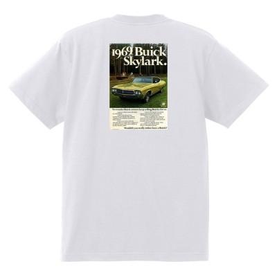 アドバタイジング ビュイック 白211 Tシャツ 1969 リビエラ ルセーブル ワイルドキャット gs350 スカイラーク