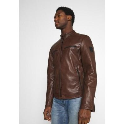 ストレルソン ジャケット&ブルゾン メンズ アウター NORWICH - Leather jacket - bison