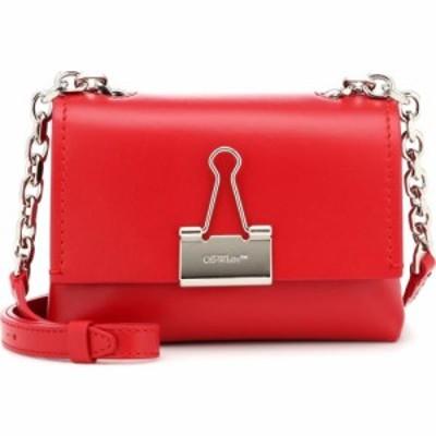 オフホワイト Off-White レディース ショルダーバッグ バインダー バッグ binder clip small leather shoulder Red