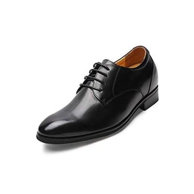 [Chamaripa] シークレットシューズ ビジネスシューズ 革靴 紳士靴 身長アップ 背が高くなる靴 トールシューズ レースアップ 本革 メンズ