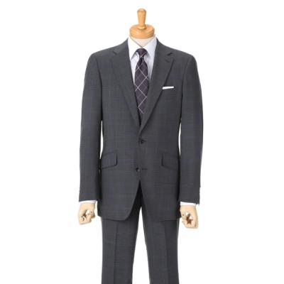 [紳士スーツスペシャル]ドールオム これからの季節にぴったりな明るめカラーのウィンドーペン柄。さわやかな印象です 1653601-C グレー HM1