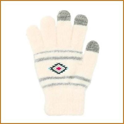 スマホ手袋 L ネイティブ ナチュラル 17318631051 ▼ユニセックスに使えるネイティブ柄の手袋
