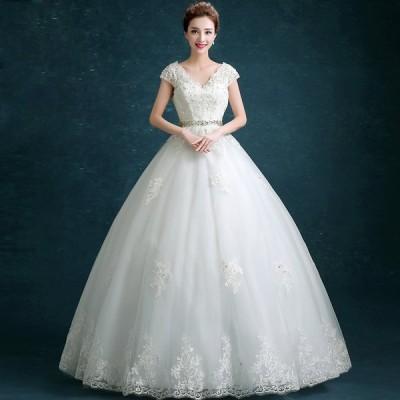 ロングドレス ウエディングドレス 安い マタニティドレス 結婚式 エンパイア お呼ばれ 二次会 ブライダル 花嫁 ウェディングドレス 妊婦可 大きいサイズ 半袖