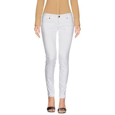 ロイ ロジャース ROŸ ROGER'S パンツ ホワイト 25 コットン 96% / ポリウレタン 4% パンツ