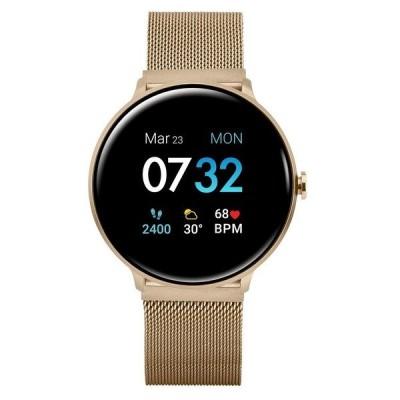 アイ タッチ 腕時計 アクセサリー レディース Women's Sport's Gold Tone Stainless Steel Mesh Strap Smart Watch 43.2mm Gold