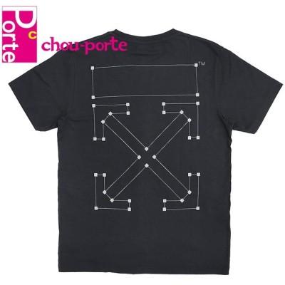 オフホワイト (OFF WHITE) バックボーン プリント Tシャツ ブラック 黒 コットン Lサイズ メンズ 未使用品 2019AW
