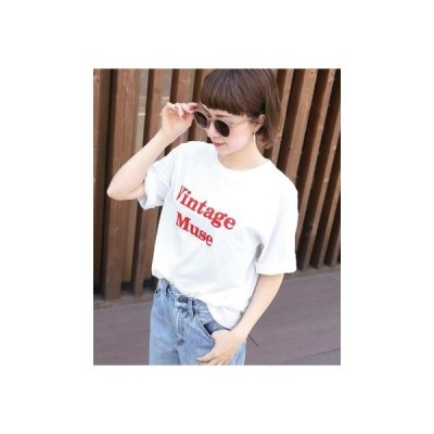コカ coca シンプルロゴプリントTシャツ (White)