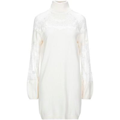 レリッシュ RELISH ミニワンピース&ドレス ホワイト S レーヨン 80% / ナイロン 20% ミニワンピース&ドレス