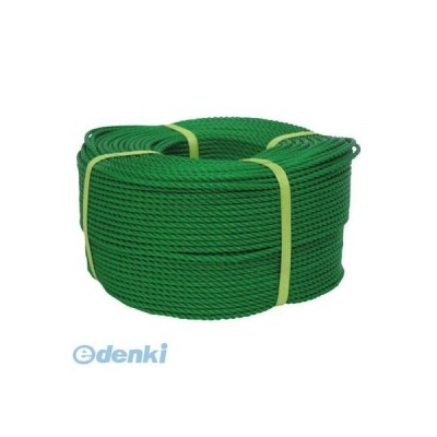 あすつく対応 「直送」 ユタカメイク  PE83 ロープ PEロープ巻物 4φ×200m グリーン