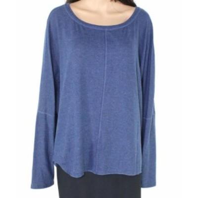 ファッション トップス H By Bordeaux Womens Blue Size 2X Plus Scoop Neck Crewneck Sweater