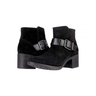 Clarks クラークス レディース 女性用 シューズ 靴 ブーツ アンクル ショートブーツ Hollis Star - Black Suede Combination