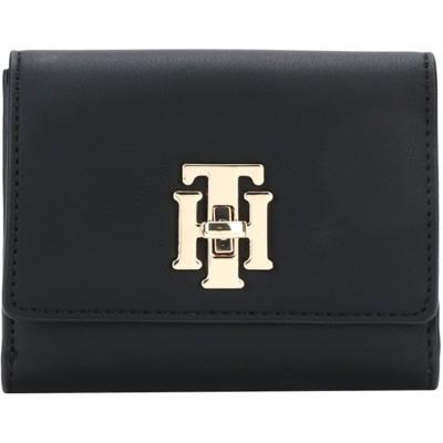 YOOX - トミーヒルフィガー TOMMY HILFIGER 財布 ブラック ポリウレタン 100% 財布
