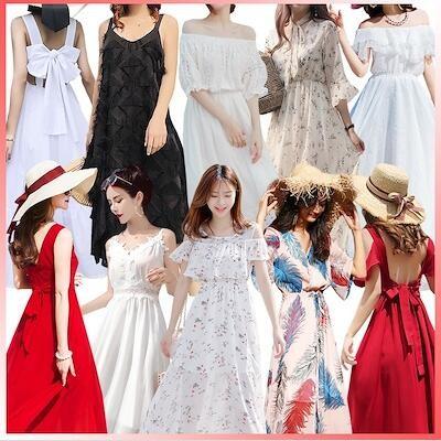 ✨2019夏新入荷韓国ファッション✨超低価パルス販売★春の新しいスタイルワンピース✨カジュアルTシャツ✨カジュアルシャツ★ワンピース✨カジュアルパンツ✨ロングスカート