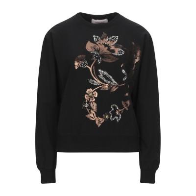 TWENTY EASY by KAOS スウェットシャツ ブラック S コットン 90% / ポリウレタン 10% スウェットシャツ