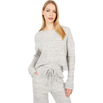 ビヨンドヨガ Beyond Yoga レディース トップス Waffle Knit Brushed Up Cropped Pullover Cream Heather