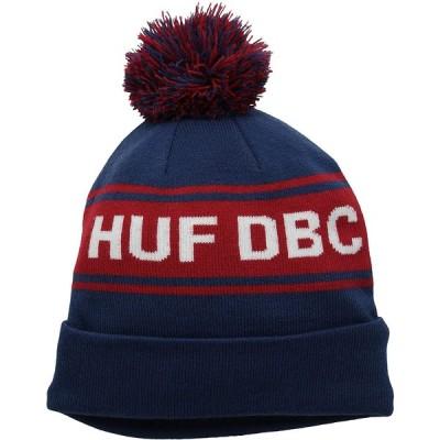 HUF メンズ DBC ポンポンビーニー US サイズ: One Size カラー: ブルー