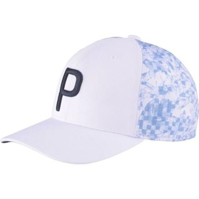 プーマ PUMA メンズ キャップ スナップバック 帽子 16 Bit Floral P 110 Snapback Golf Hat Bright White