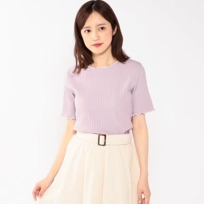 ミッシュマッシュ MISCH MASCH 配色メローカットソー (ピンク系)