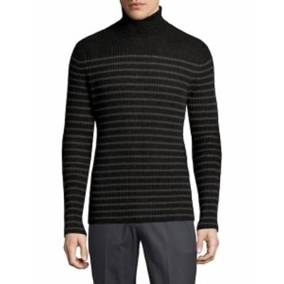 ヴィンス メンズ トップス セーター ニット Cashmere Bretton Stripe Turtleneck