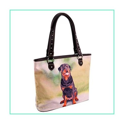 Montana West Women's Animal Pet Printed Dogs Collection Canvas Tote Bags MW973-8112CF並行輸入品