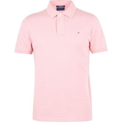 ガント Gant メンズ ポロシャツ 半袖 トップス Original Pique Short Sleeve Polo Pink