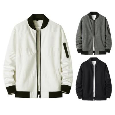 ジャケット メンズ 長袖 ライトアウター 秋冬 メンズトップス フライトジャケット ジップパーカー