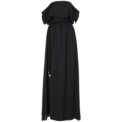 アンナリータ エンネ ANNARITA N ロングワンピース&ドレス ブラック 40 ポリエステル 100% ロングワンピース&ドレス