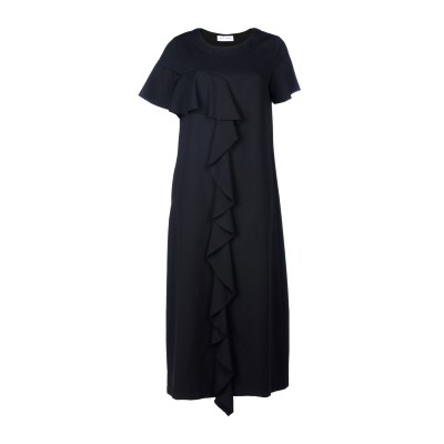 WEILI ZHENG ロングワンピース&ドレス ブラック S 92% ポリエステル 8% ポリウレタン ロングワンピース&ドレス