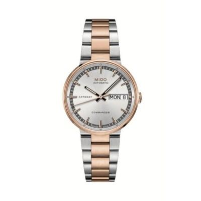 腕時計 ミドー メンズ Mido Commander II Silver Rose Gold Automatic Men's Watch M014 430 22 031 00