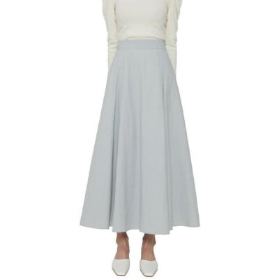 somedayif レディース スカート Printed flared maxi skirt