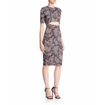 スーノ レディース ワンピース Printed Cutout Dress