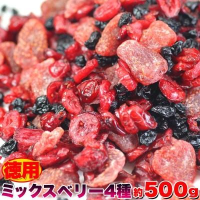 徳用ミックスベリー4種 【500g】 ★★フルーツを食べて内側からのビタミンケアをサポート!