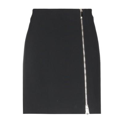 VERSACE ひざ丈スカート ブラック 38 51% レーヨン 46% アセテート 3% ポリウレタン ひざ丈スカート