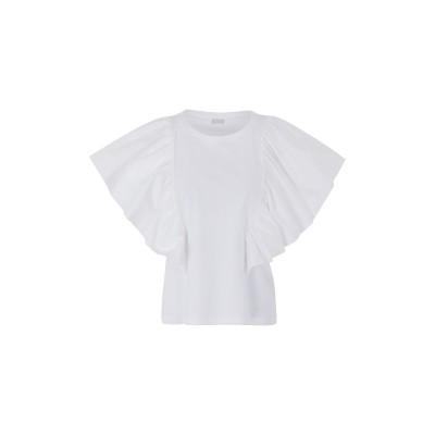 8 by YOOX T シャツ ホワイト XL オーガニックコットン 100% T シャツ