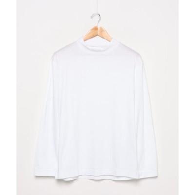 tシャツ Tシャツ 【STUDIOUS】モックネックロングスリーブTシャツ