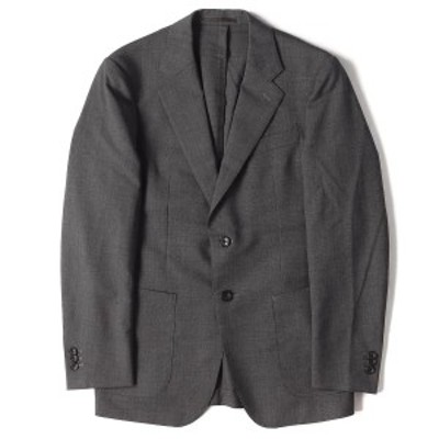 EDIFICE エディフィス ジャケット ノッチドラペル ウール 2B テーラードジャケット グレー 44 【メンズ】【中古】【K2569】