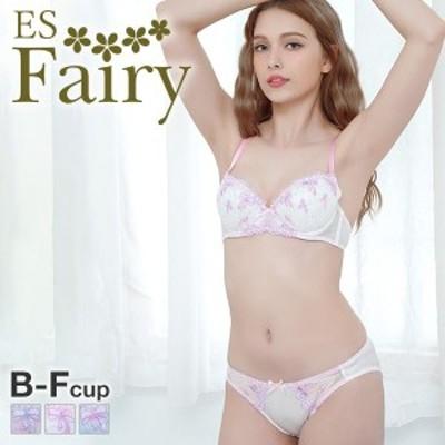 23%OFF (イーエスフェアリー)ES Fairy ジャンボリボン ブラジャー ショーツ セット BCDEF プチプラ 大人可愛い 大きいサイズ