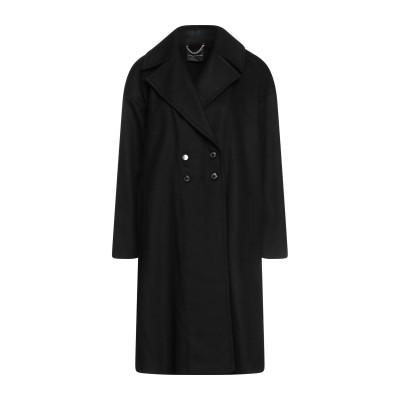 アトス ロンバルディーニ ATOS LOMBARDINI コート ブラック 46 バージンウール 70% / ナイロン 20% / カシミヤ 10%