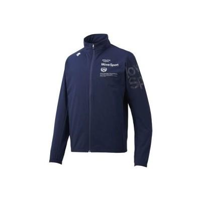 (デサント)タフクロスジャケット DMMNJF15-NV トレーニングウエア 布帛ウォームアップシ